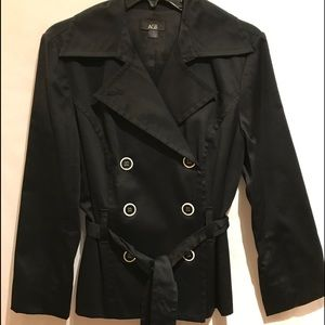 AGB Double Breasted Black Jacket
